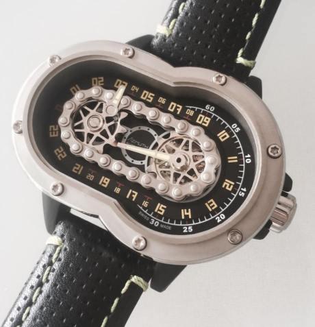 Uniknya Jam Tangan Azimuth SP-1 Crazy Rider Watch Pakai rantai Buat Penunjuk Waktu, Petrolhead Demen nih 02 Pertamax7.com