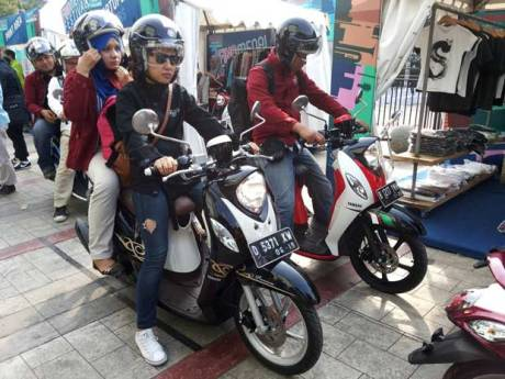 Yamaha Indonesia Ajak Media Dan Komunitas City Touring Fashionable New Fino 125 Blue Core Semarakkan Bandung 01 Pertamax7.com