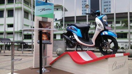 Yamaha New Fino Esprit Bleu Pertamax7.com