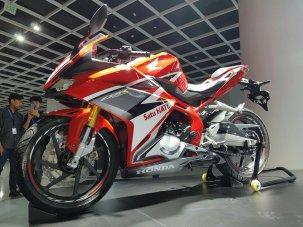 All New Honda CBR250RR Merah tampak kiri bawah Pertamax7.com